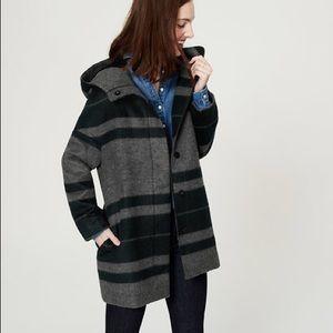 LOFT Striped Cocoon Coat